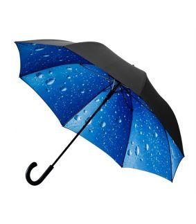 Umbrela cu vedere picaturi de ploaie