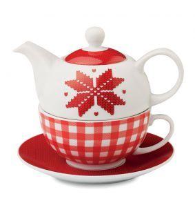Set de ceai cu motive de Craciun