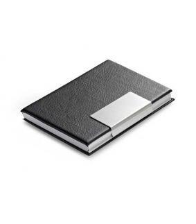 Port carti de vizita negru cu metal