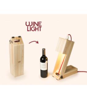 Cutie sticla de vin - veioza