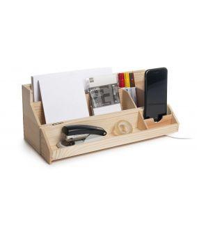 Cutie sticlă de vin - organizator de birou