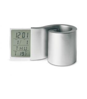 Suport pentru instrumente de scris cu ceas LCD