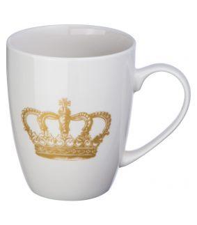 Cana din ceramica, cu imagine coroana