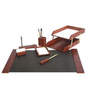 Set de birou din lemn cu 7 piese