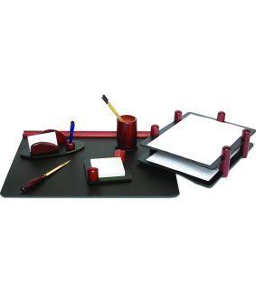Set de birou din lemn de mahon 6 piese