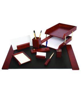 Set de birou din lemn cu 9 piese
