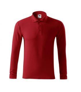 Bluza Polo Single J cu maneca lunga, textura tricou clasic