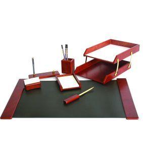 Set de birou din lemn abanos cu 8 piese