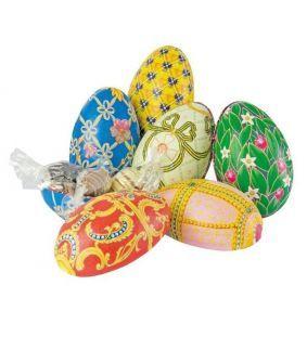 Cutii metalice design ou Faberge cu ciocolată
