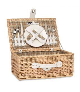 Coș de picnic din răchită pentru 2 persoane